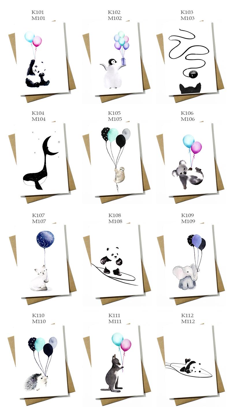 gratulationskort, vikta kort, konstkort, kort till barn