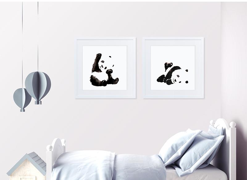 Panda, panda art, panda painting