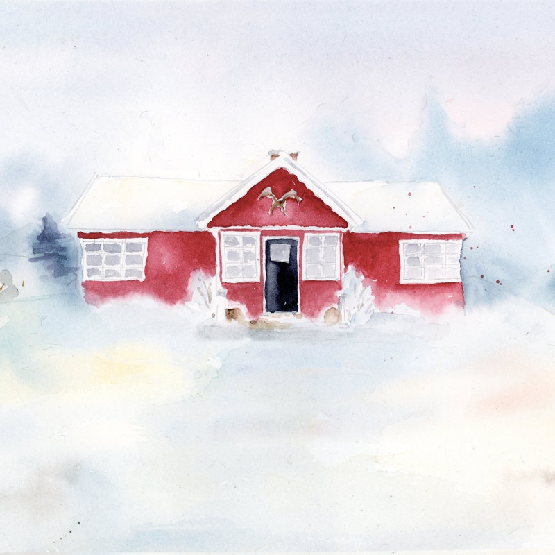 buy house portrait in watercolor