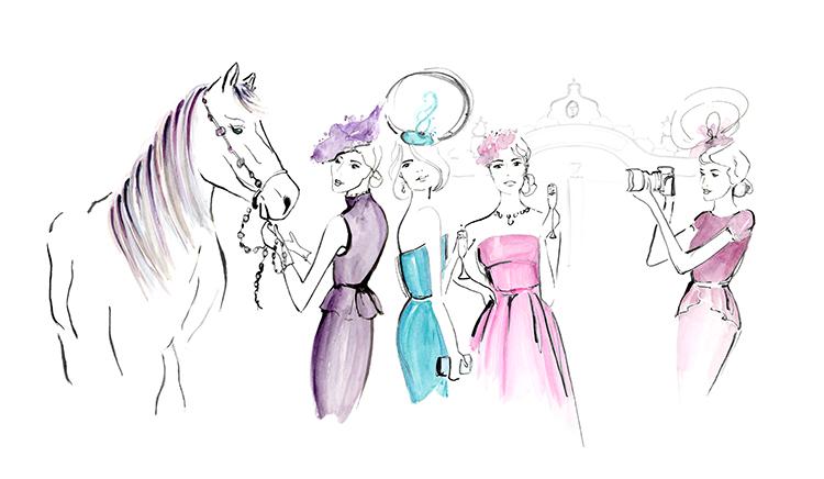 Melbourne Cup Fashion Illustration