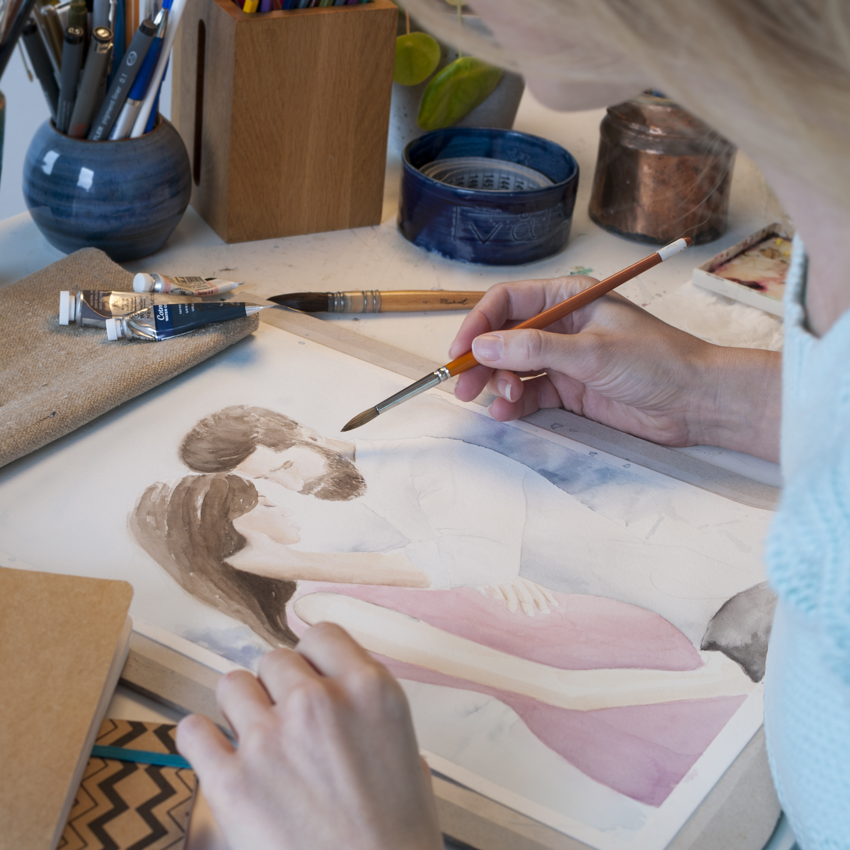 Painting watercolour