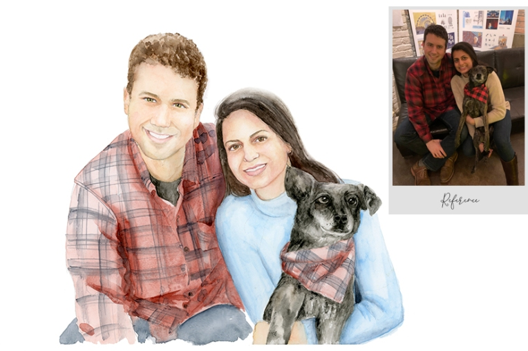 Buy watercolor portrait